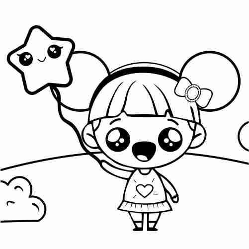 Dibujos de muñeca feliz para colorear