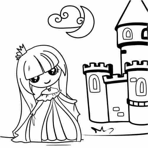 Dibujos de muñeca princesa para colorear
