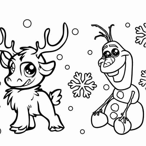 Dibujos de amigos en navidad para colorear