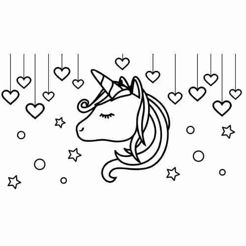 Dibujos de Unicornio kawaii para colorear2