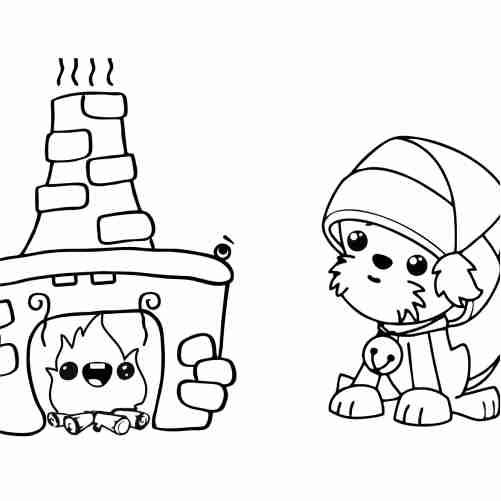 Dibujos de calida navidad kawaii para colorear