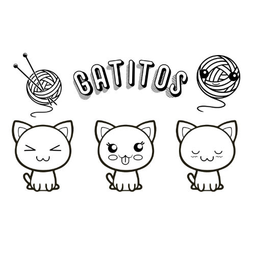 Dibujos de Gatitos fantasticos para colorear