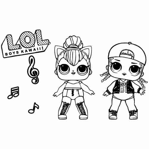 Dibujos de lol surprise music para colorear