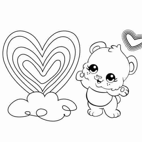 Dibujos de osito bebe para colorear