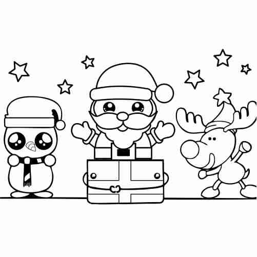 Dibujos de santa en navidad para colorear