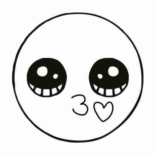 Dibujos de Emoji besito para colorear
