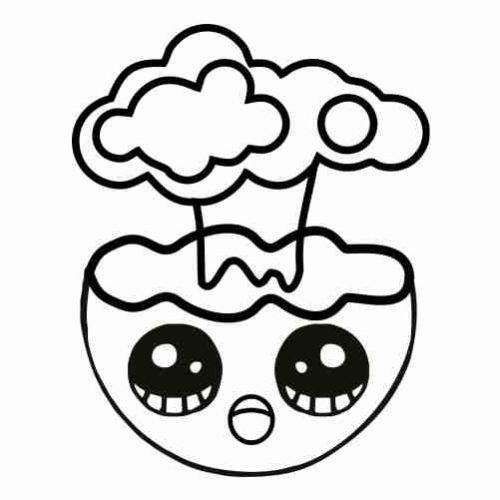 Dibujos de Emoji explosion para colorear