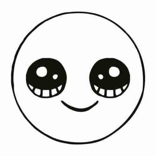 Dibujos de Emoji feliz para pintar