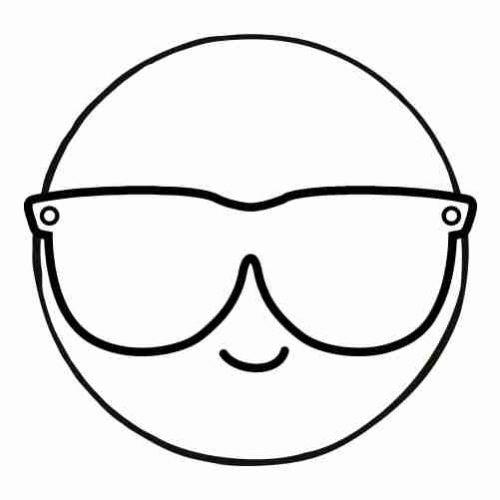 Dibujos de Emoji cool para colorear