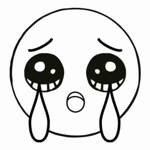 Dibujos de Emoji llorando para calorear