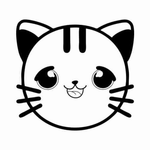 Dibujos de Emoji Gato para colorear