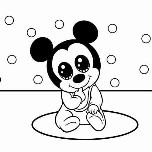 Dibujos de mickey bebe para colorear