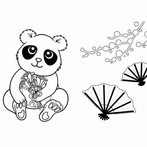 Dibujos de Panda para colorear