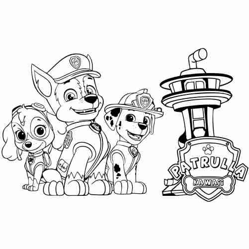 Dibujos de dibujos para colorear patrulla canina
