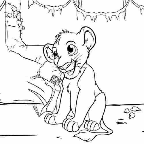 Dibujos de simba imagenes para colorear