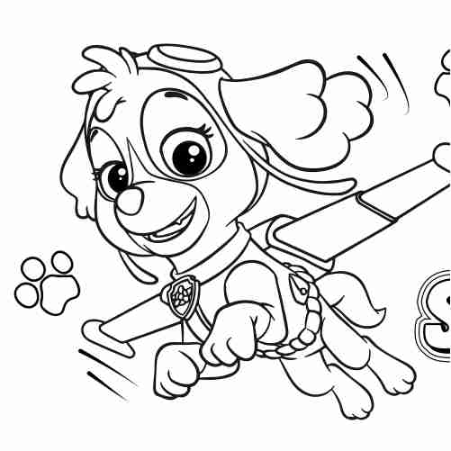 Dibujos de skye patrulla canina para colorear