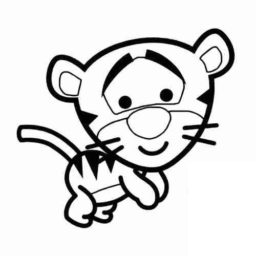 Dibujos de Tigger bebe para colorear