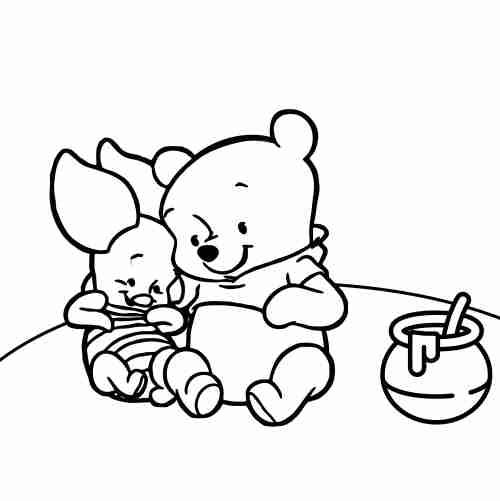 Dibujos de Winnie the pooh para colorear