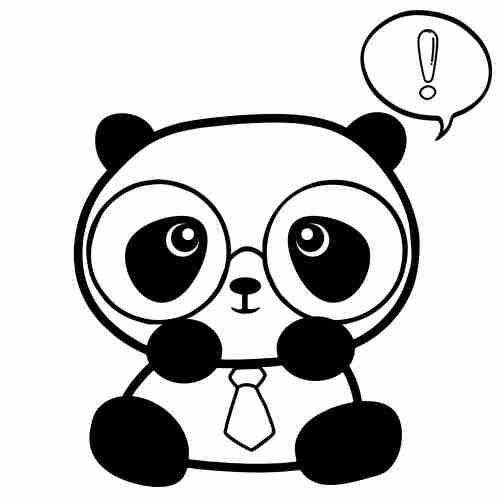 Dibujos de Panda hipster para pintar