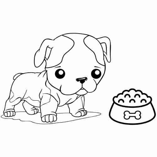 Dibujos de perrito para pintar descargar e imprimir