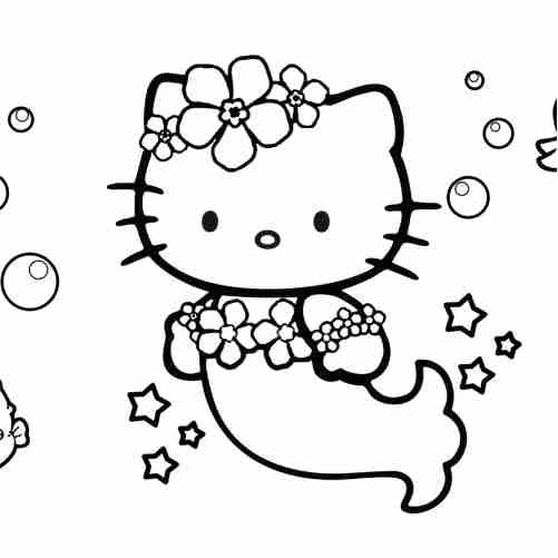 Dibujos de Sirena kity para colorear