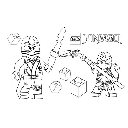 Lego ninjago para colorear