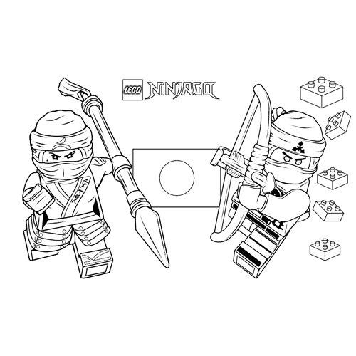 zane y cole lego ninjago para colorear