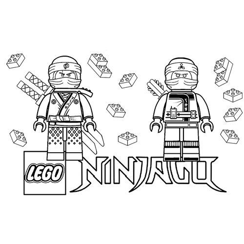 zane y floyd lego ninjago para colorear