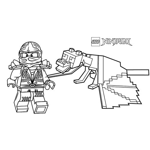 floyd y su dragon lego ninjago para colorear