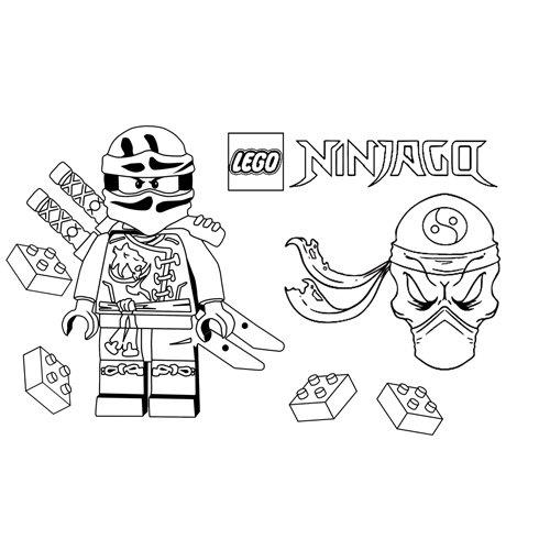 ninja esqueleto lego ninjago para colorear