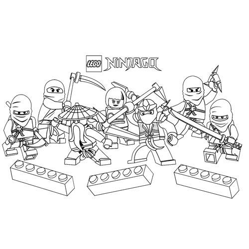 divertodos ninjas lego ninjago para colorear