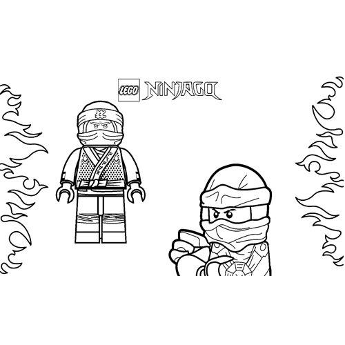 jay luchador lego ninjago para colorear