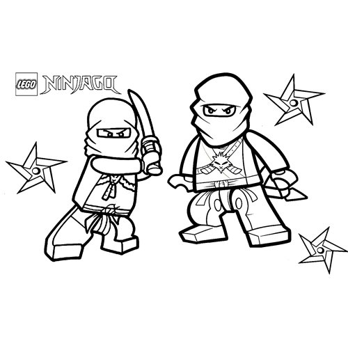 luchador lego ninjago para colorear