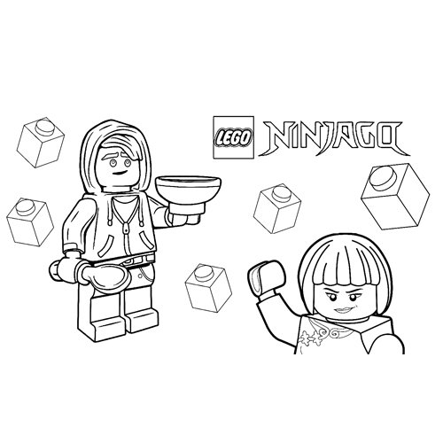 floyd y nya lego ninjago para colorear