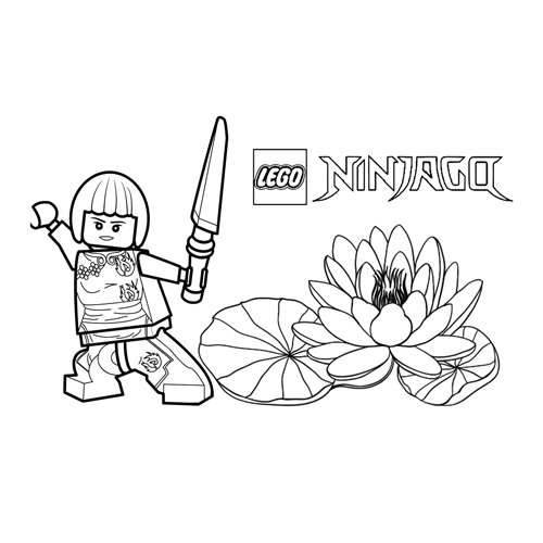 nya poderosa lego ninjago para colorear