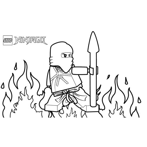 ninja del fuego lego ninjago para colorear