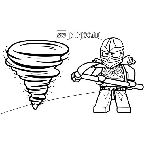 Zane poder del viento lego ninjago para colorear