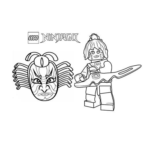 guerrera pixal lego ninjago para colorear