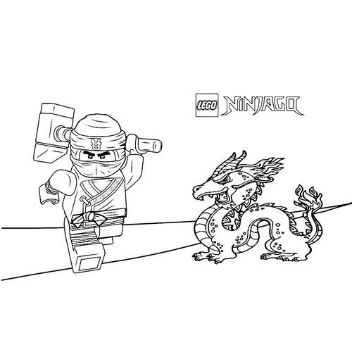 cole y el dragon lego ninjago para colorear