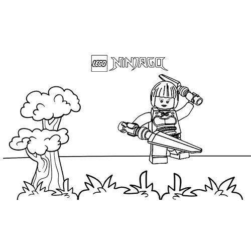 nya practicando lego ninjago