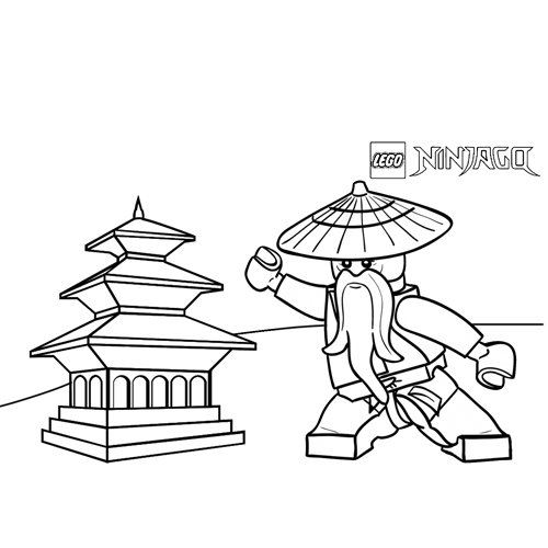 sensei wu ninjago para colorear
