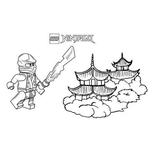 cole en el templo ninjago para colorear