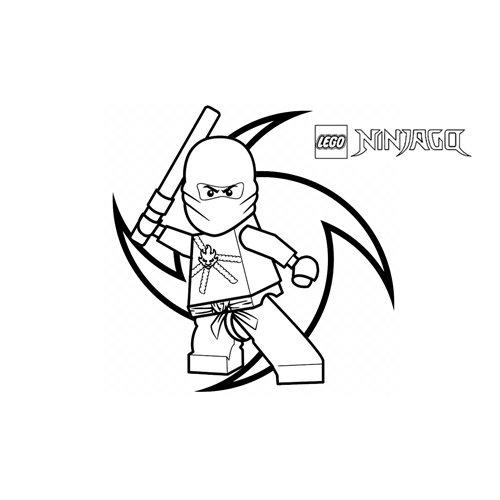 kai el ninja rojo ninjago para colorear