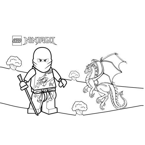 kai y el dragon ninjago para colorear
