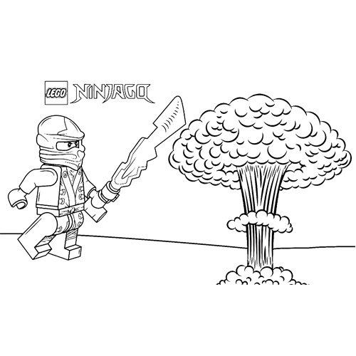 floyd explosivo ninjago para colorear