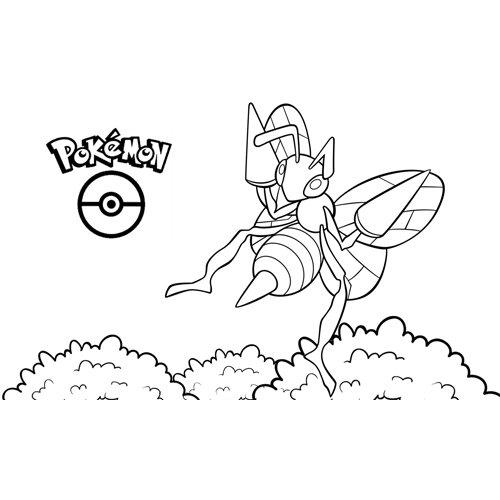super beedrill pokemon para colorear