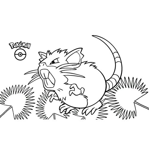 raticate pokemon para colorear