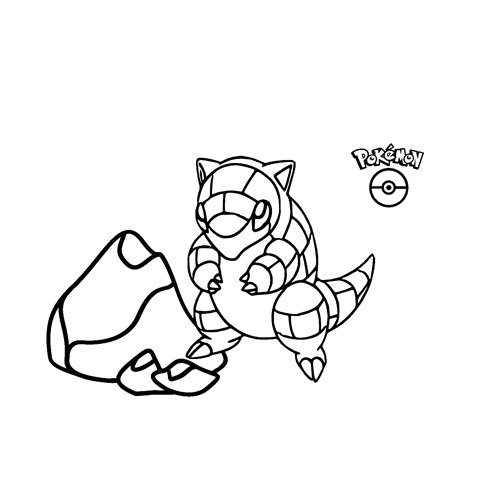 pokemon Sandshrew para colorear