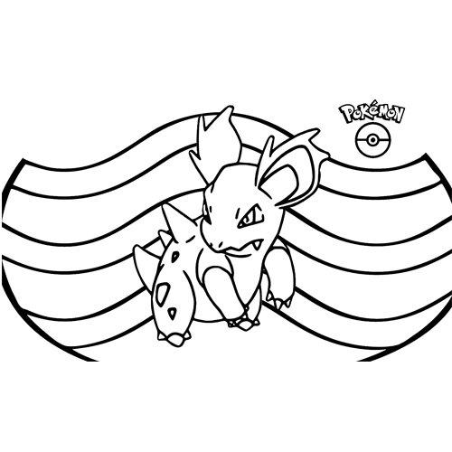 pokemon nidorina para colorear