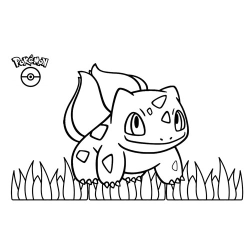 adorable bulbasaur pokemon para colorear
